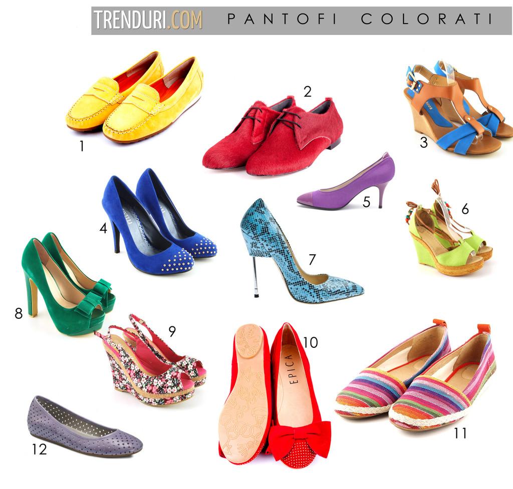 pantofi colorati - moda de primavara vara 2013