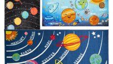 covoare, copii, planete